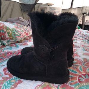 UGG Australia sheepskin black boots